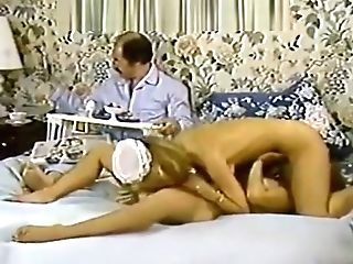 Karen Summer, Nina Hartley In Pornography Old-school Clip With A Horny Maid