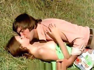 Man Attempts To Tempt Nubile In Meadow (1970s Antique)