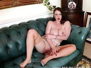 Big Natural Tits Brookie Little Peels Off Milky Retro Undergarments Masturbates