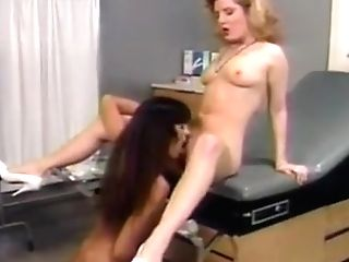 Sexy Lesbo Eating Cunt On The Doctors Table