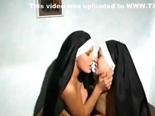 Duo Of Hot Horny Nuns!